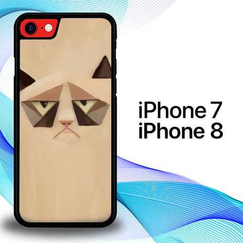 Custodia Cover iphone 7 8 Grumpy Cat Animal Eye E1190 Case