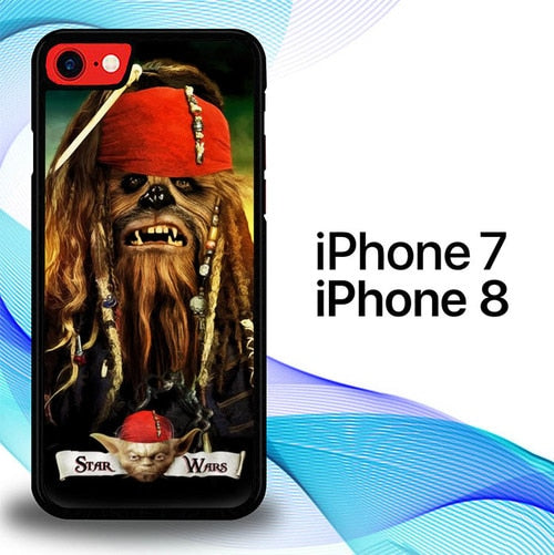 Custodia Cover iphone 7 8 Captain Chewbacca Star Wars E1221 Case