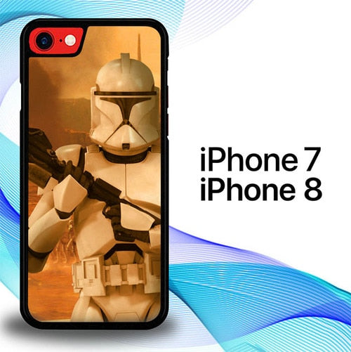 Custodia Cover iphone 7 8 Clone Trooper Star Wars E1223 Case