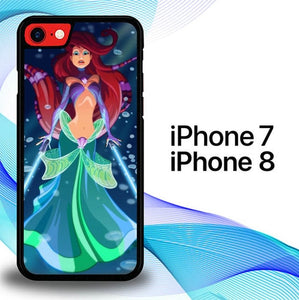 Custodia Cover iphone 7 8 Princess Mermaid Star Wars E1226 Case