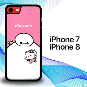 Custodia Cover iphone 7 8 Baymax Hello Kitty E1420 Case