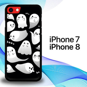 Custodia Cover iphone 7 8 Helloween Boo E1422 Case