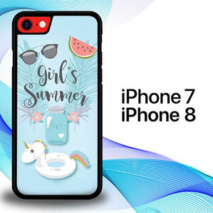 Custodia Cover iphone 7 8 Girl's Summer E1470 Case