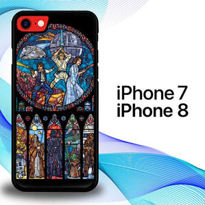 Custodia Cover iphone 7 8 Star Wars Stained Glass E1495 Case