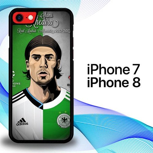 Custodia Cover iphone 7 8 Sami Khedira Madrid Alemania E1564 Case