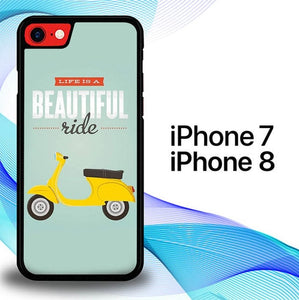 Custodia Cover iphone 7 8 Life is a beautiful ride E1593 Case