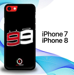 Custodia Cover iphone 7 8 Jorge Lorenzo Spartan 99 Logo E1622 Case