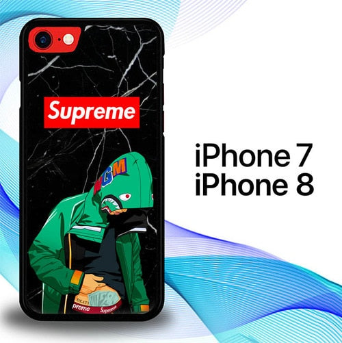 Custodia Cover iphone 7 8 Marble Supreme Bape Cartoon E1634 Case