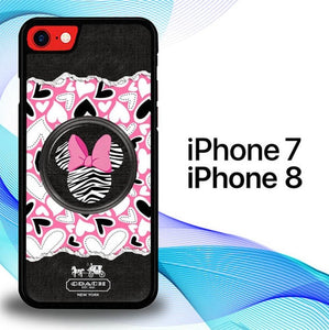 Custodia Cover iphone 7 8 Pink Passion Minnie Mouse E1640 Case