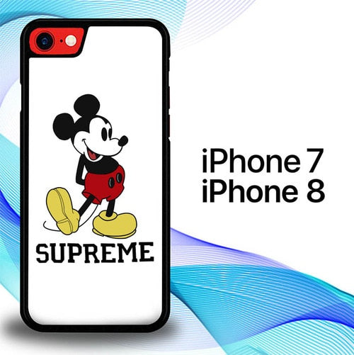 Custodia Cover iphone 7 8 Supreme x Mickey T-Shirt E1659 Case