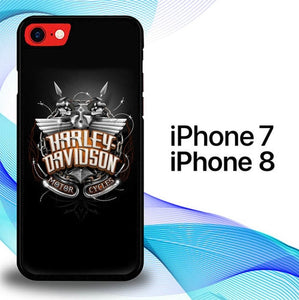 Custodia Cover iphone 7 8 Harley Davidson Skull Racer E1713 Case
