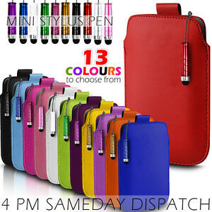 RED Leather Pelle Custodia per Samsung Galaxy S5 MINI SM-G800 Pull Scheda Custodia  Cover