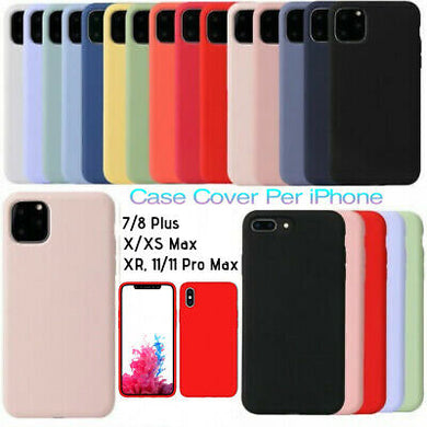 Genuine Silicone Custodia Cover per Apple iPhone 11 Max/Pro XR XS MAX 8 7  PLUS X