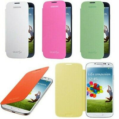 Flip Cover Custodia Per Samsung Galaxy S4 I9500 I9505 Giallo Smart S-VIEW  Window