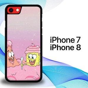 Custodia Cover iphone 7 8 Spongebob Ice Cream P0704 Case