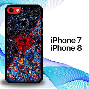 Custodia Cover iphone 7 8 Superman Vs Batman P0713 Case