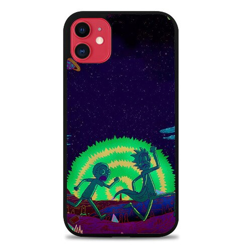 Custodia Cover iphone 11 pro max Rick And Morty Running P1945 Case