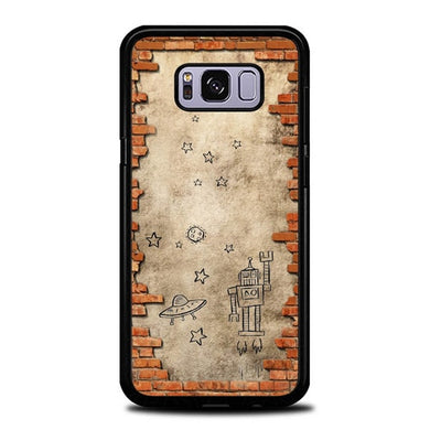 Custodia Cover samsung galaxy s8 s8 edge plus Drawing In The Wall P2000 Case