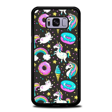 Custodia Cover samsung galaxy s8 s8 edge plus Unicorn Donuts Pattern P2010 Case