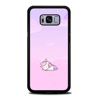 Custodia Cover samsung galaxy s8 s8 edge plus Unicorn Sleeping Alone P2017 Case