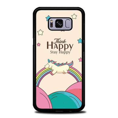 Custodia Cover samsung galaxy s8 s8 edge plus Think Happy Stay Happy P2028 Case