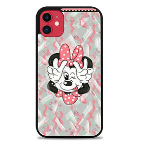 Custodia Cover iphone 11 pro max Minnie Mouse Paint P2190 Case