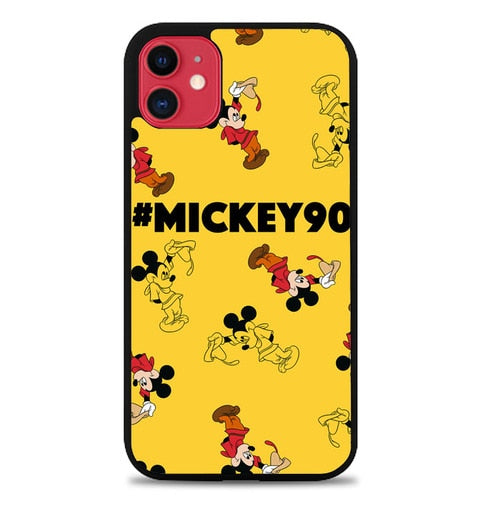 Custodia Cover iphone 11 pro max Mickey Mouse Yellow Pattern P2194 Case