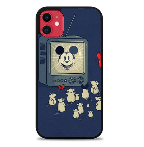 Custodia Cover iphone 11 pro max Mouse Watching Mickey P2195 Case