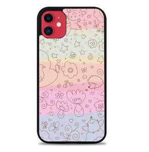 Custodia Cover iphone 11 pro max Pastel Color Doodle P2212 Case