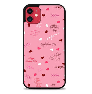 Custodia Cover iphone 11 pro max Cute backgrounds valentines day P2215 Case