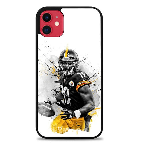 Custodia Cover iphone 11 pro max JuJu Smith-Schuster Pittsburgh Steelers P2227 Case