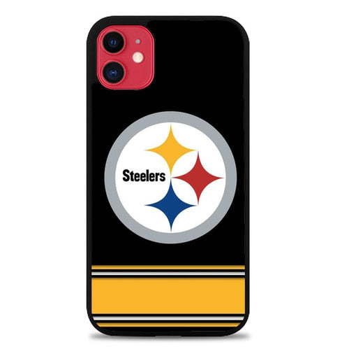 Custodia Cover iphone 11 pro max Pittsburgh steelers Logo Strip P2231 Case