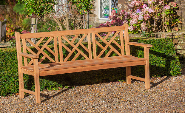 Keddleston Four Seat Teak Bench Paddle Arms