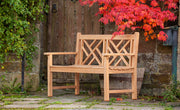 Keddleston Two Seat Teak Bench Paddle Arms
