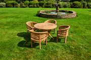 The Windsor Four Seat Teak Garden Furniture Set