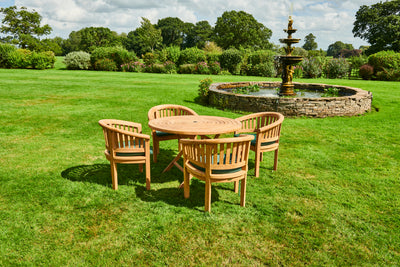 The Ascot Four Seat Teak Garden Furniture Set