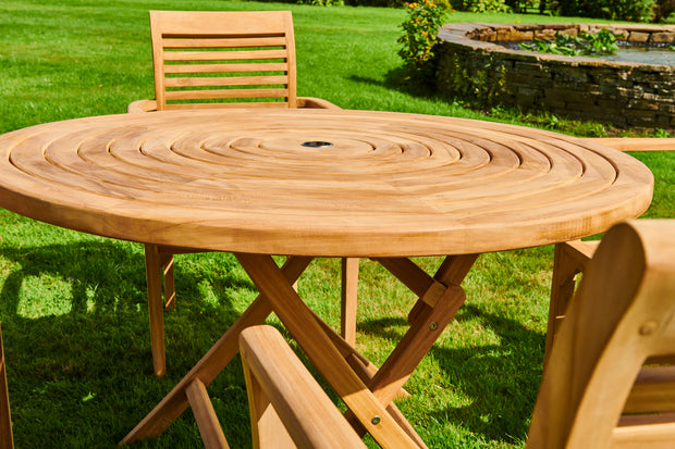 The Avebury Four Seat Teak Garden Furniture Set
