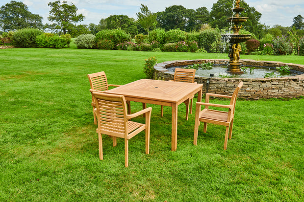 The Chalfield Four Seat Teak Garden Furniture Set
