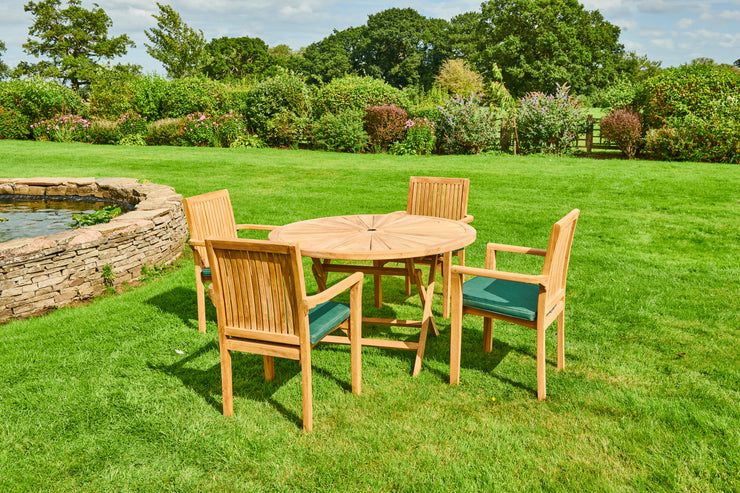 ASPLEY FOUR SEAT TEAK GARDEN FURNITURE SET