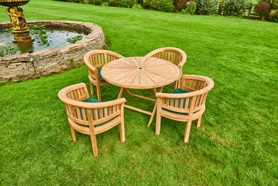 The Berkshire Four Seat Teak Garden Furniture Set