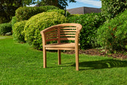 Longleat Teak Banana Teak Wave Chair