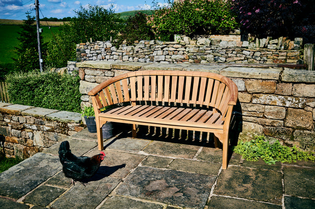 LACOCK THREE SEAT TEAK BENCH