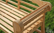 Sissinghurst Lutyens Teak Garden Bench Fully Assembled