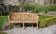 Longleat Banana Three Seat Teak Bench
