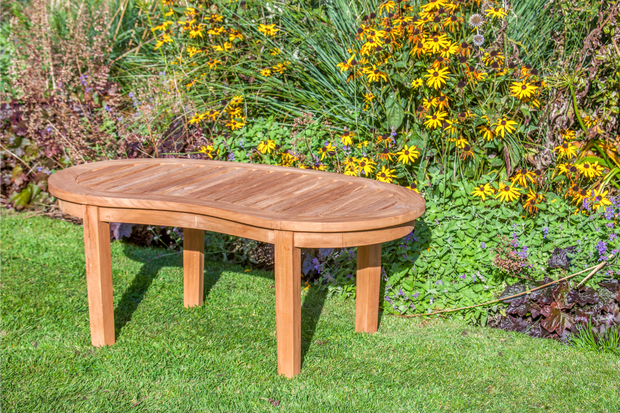 Longleat Banana Teak Coffee Table