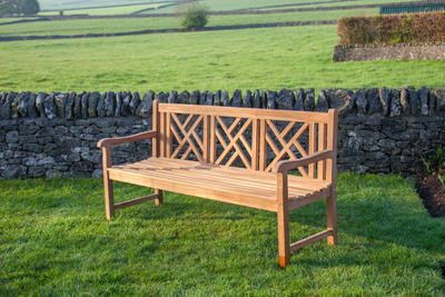 Keddleston Four Seat Teak Bench