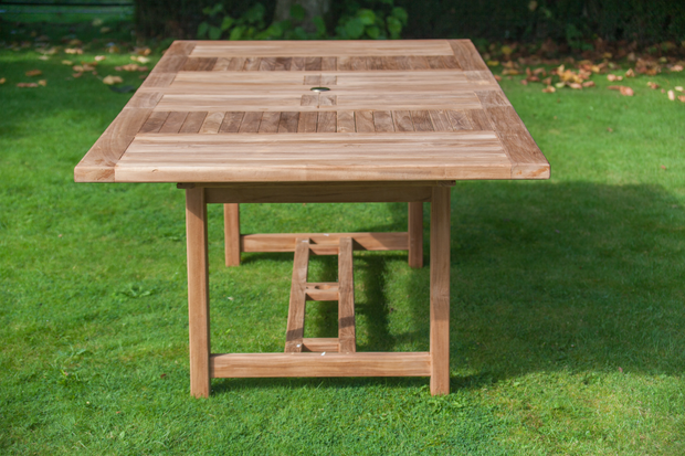 Chartwell Eight Seat Teak Table & Stacking Chair Outdoor Garden Furniture Set