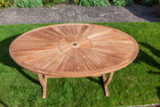 Sherringham Sunburst Teak Oval Table