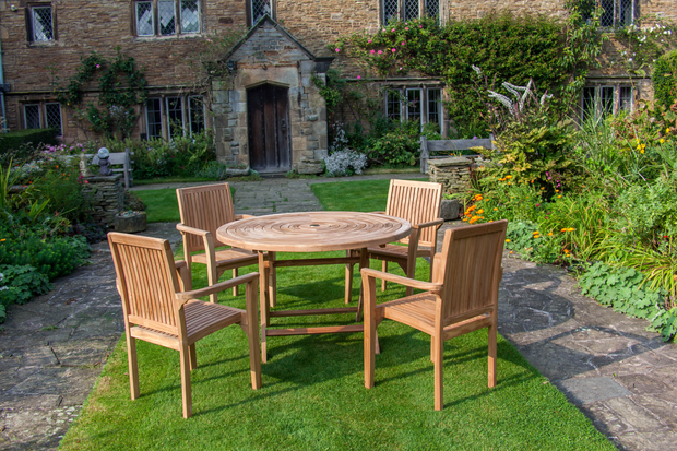 The Stowe Four Seat Teak Garden Furniture Set