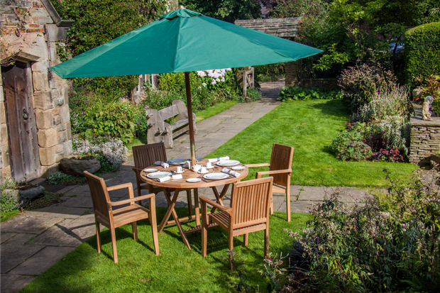 Stowe Four Seat Teak Garden Furniture Set